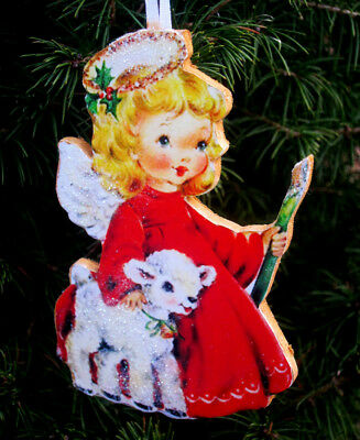 Angel with Lamb Ornament Handcrafted Christmas Daughter Granddaughter Gift