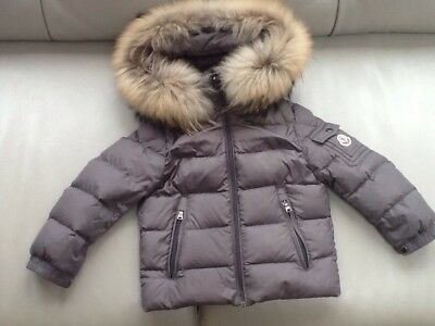 Moncler Boys Grey Coat Age 24 Months