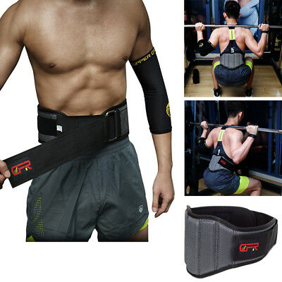 Weight Lifting Brace Waist Lumbar Back Support Belt Gym Fitness Training Straps
