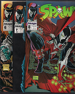 Spawn #6, 7, 8  - VF/NM - You get ALL THREE COMICS for this price!