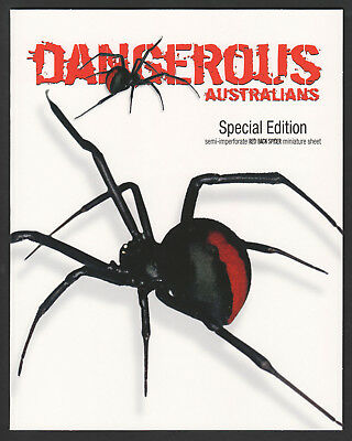 2006 Dangerous Australians Special Edition MS Pack semi-imperf. Red-Back Spider