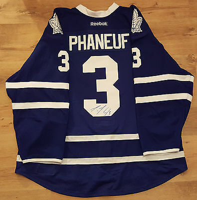 Dion Phaneuf Toronto Maple Leafs Media Worn 2015-16 Home Jersey Autographed
