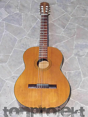 vintage TELLER style 4/4 Concert Guitar Classic Guitar all solid Germany 1970`