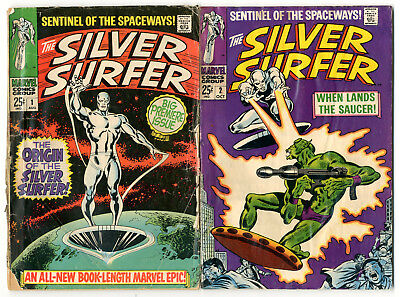 1968 Silver Surfer 1-18 Complete Run Low Grade