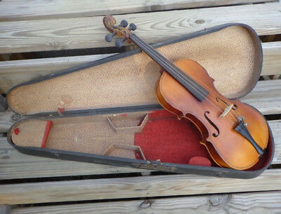 Antique 4/4 Full Size Violin With Case