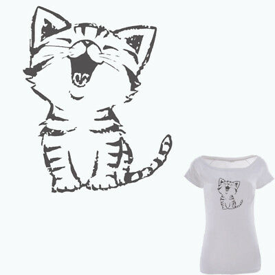 Heat Transfer Cut Cat Patch Iron On Patches Clothes DIY Decoration Printing