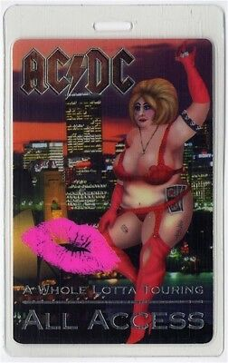 AC/DC authentic 2001 concert Laminated Backstage Pass Whole Lotta Touring RARE