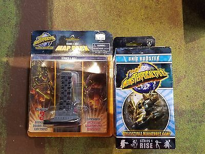 Monsterpocalypse Lot - Series 1 booster and Series 1 Map Pack - NEW