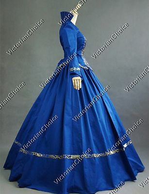 Victorian Gothic Queen Dress Reenactment Witch Ghost Halloween Costume 111 L