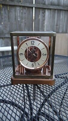 early atmos lecoultre early 11 bronze color mantle clock restoration