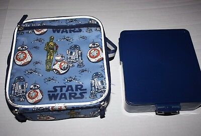 Pottery Barn Kids Insulated Star Wars Droids School Lunch box bag & Bento Box
