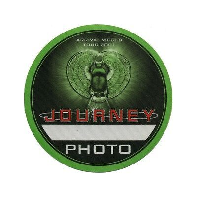 Journey authentic 2001 Arrival Tour satin Backstage Pass photo green