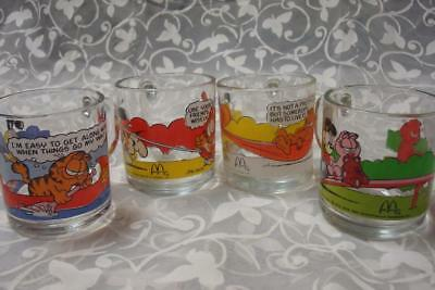 SET OF 4 McDonald's Garfield Glass Mugs - 1978, JIm Davis #1