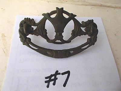 Antique Ornate Brass Drawer Cabinet Furniture Pulls Handle/ Knob Pic  #7