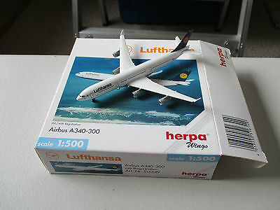 Herpa Wings  516549 Lufthansa Airbus A340-300 Version 3