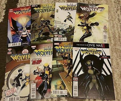 ALL NEW WOLVERINE #1 - 8 First Prints, NM, 1 2 3 4 5 6 7 8 - X-23