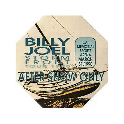 Billy Joel authentic Aftershow 1990 tour Backstage Pass