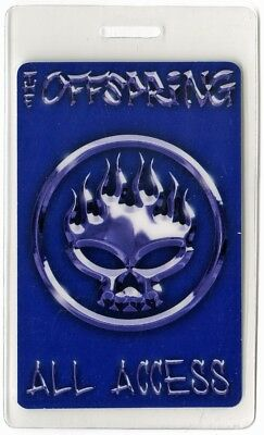 Offspring authentic 2001 concert Laminated Backstage Pass Conspiracy of One Tour