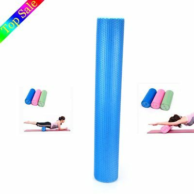 Blue Long Foam Roller Pilates Physio Yoga GYM Exercise Training Massage 90CM