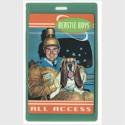 Beastie Boys authentic 1999 concert Laminated Backstage Pass Hello Nasty Tour