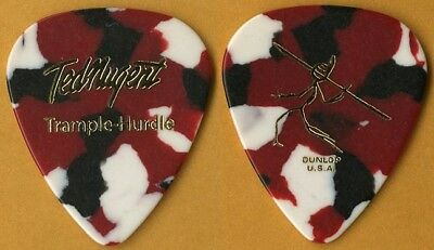 Ted Nugent Ted Nugent authentic 2010 Trample-Hurdle tour multi color Guitar Pick
