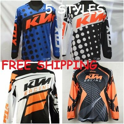 Motocross Jersey KTM 5 Styles Xtreme Sports Off Road Clothing Quick Dry Function