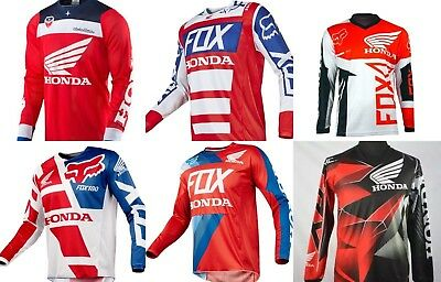 Motocross Jersey HONDA 4 Sty Xtreme Sports Off Road Clothing Quick Dry Function