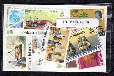 Pitcairn Islands 10 timbres différents
