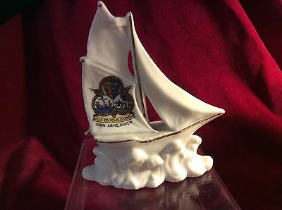 Perfect. Crested China Sailing Boat From Town Arms Dover  Lovely Piece.