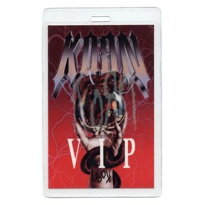 Korn authentic 2004 Laminated Backstage Pass Take A Look In the Mirror Tour VIP