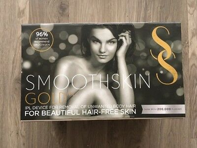 BRANDNEW SmoothSkin Gold 200 IPL Permanent Hair Reduction Device for Body & Face
