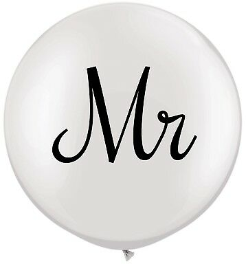 3ft Mr & Mrs Printed Latex Balloons
