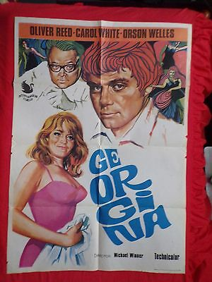 1967 Oliver Reed -Carol White - Poster -Ill Never Forget Wohatsis Name O.wells