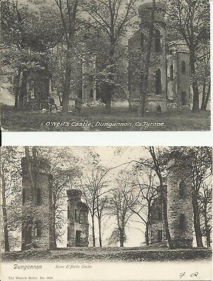 Postcards (2) of Ruined Castle, Dungannon, early C20th