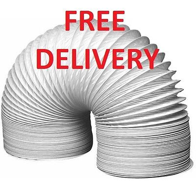 """Extra Strong Universal PVC Tumble Dryer Vent Hose 4"""" x 1 Metre FREE DELIVERY"""