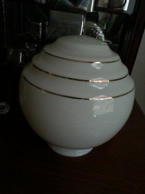 Vintage Art Deco Bee Hive Light Shade Cream with Gold Trim *Absolutely Stunning*
