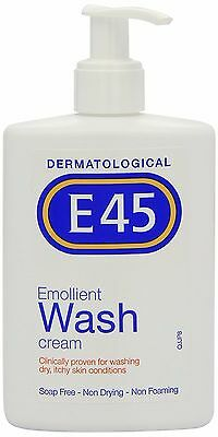 E45 Dermatological Emollient Wash Cream 250ml Washing Dry Itchy Skin Conditions