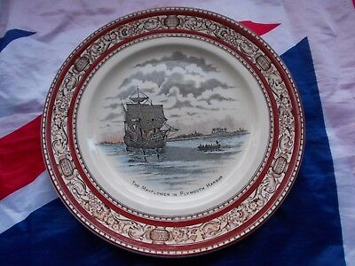 Adams England Collectors Plate THE MAYFLOWER IN PLYMOUTH HARBOR=VGC.