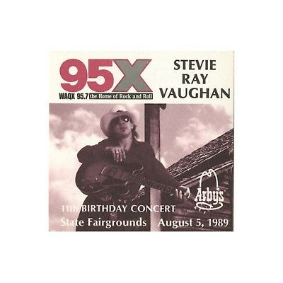 Stevie Ray Vaughan authentic 1989 In Step tour satin Backstage Pass 95X promo