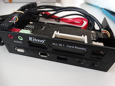 Ritmo 5.25 inch PC bay mounted multifunction panel card reader USB 2.0