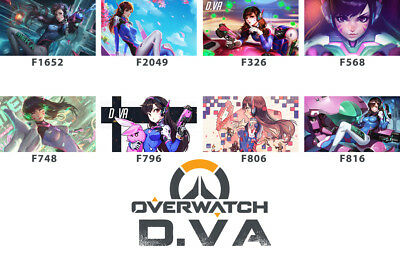 FREE MAT BAG Overwatch D.VA Playmat TCG Play Mat Work Mat Large Game Mouse Pad