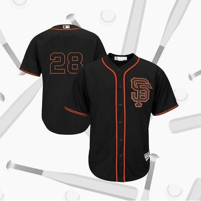 San Francisco Giants Buster Posey 28# Black Alternate Flex Baseball Jersey