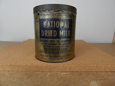 Ministry Of Food National Dried Milk Tin Vintage tin 13cm diameter 14cm
