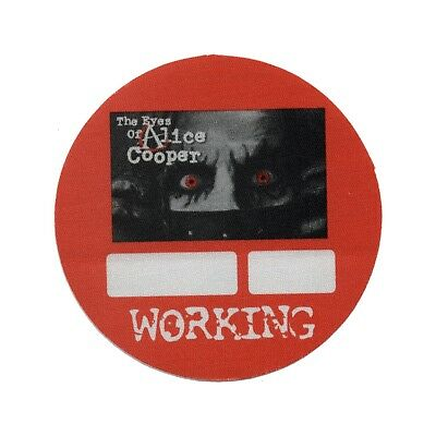 Alice Cooper authentic 2004 Eyes of.. Tour satin Backstage Pass crew red
