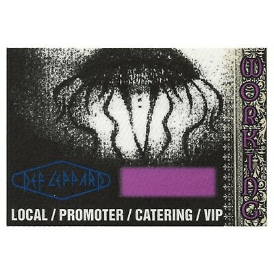 Def Leppard authentic Working 1995 tour Backstage Pass
