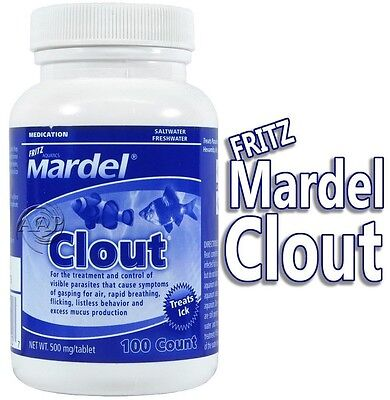 CLOUT - 100 Count Fritz Aquatics Mardel Aquarium/Pond Parasite Treatment