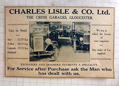 1925 Charles Lisle And Company Cross Garages Gloucester