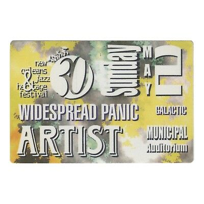 Widespread Panic authentic 1999 New Orleans Jazz Festival satin Backstage Pass