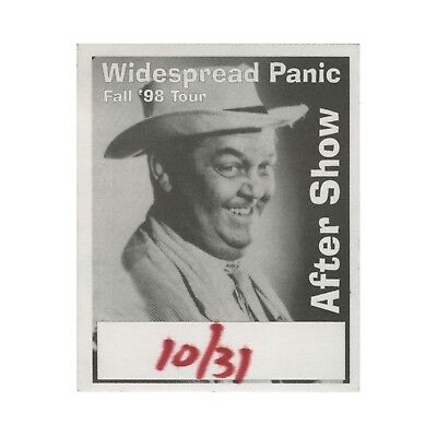 Widespread Panic authentic 1998 Fall Tour satin Backstage Pass after show