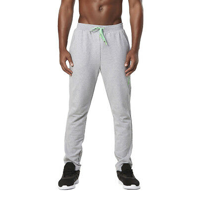 2XU Men's X Recovery Panelled Track Pants Moon Grey Marle/Radiant Green L